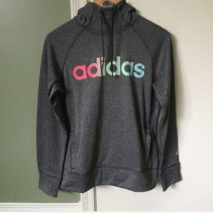 ADIDAS ultimate graphic fleece pullover hoodie M